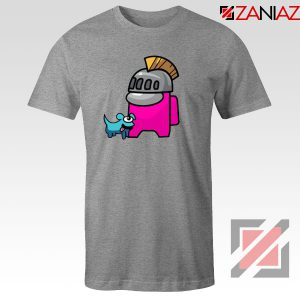 Among Us Pink Sport Grey Tshirt