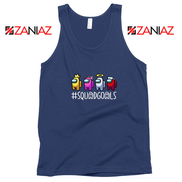 Among Us Squad Navy Blue Tank Top