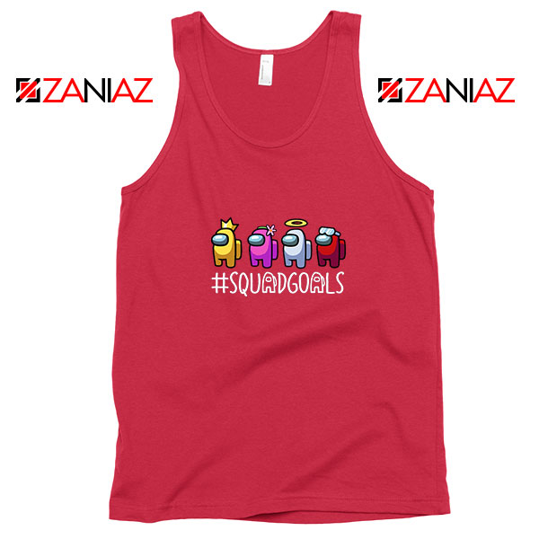 Among Us Squad Red Tank Top