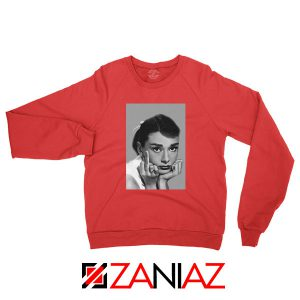 Audrey Hepburn Middle Finger Red Sweatshirt