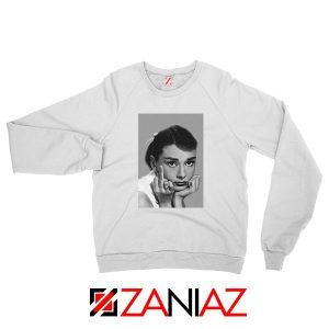 Audrey Hepburn Middle Finger White Sweatshirt
