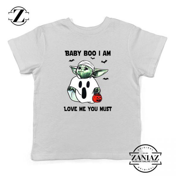 Baby Yoda Boo Kids Tshirt