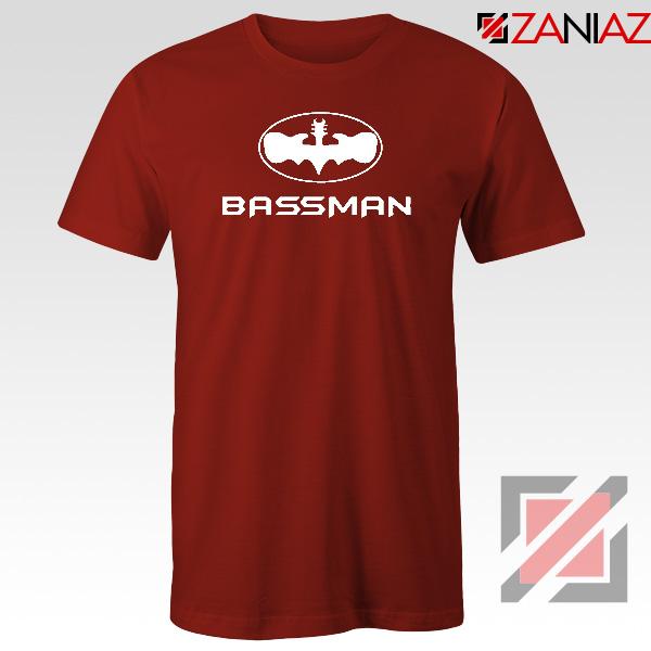 Bassman Guitarist Red Tshirt