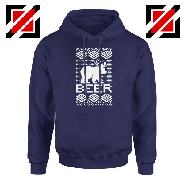 Bear Christmas Navy Blue Hoodie