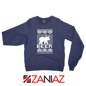 Bear Christmas Navy Blue Sweatshirt