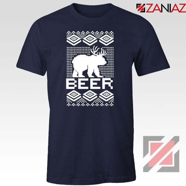 Bear Christmas Navy Blue Tshirt