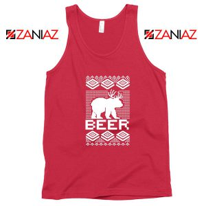 Bear Christmas Red Tank Top
