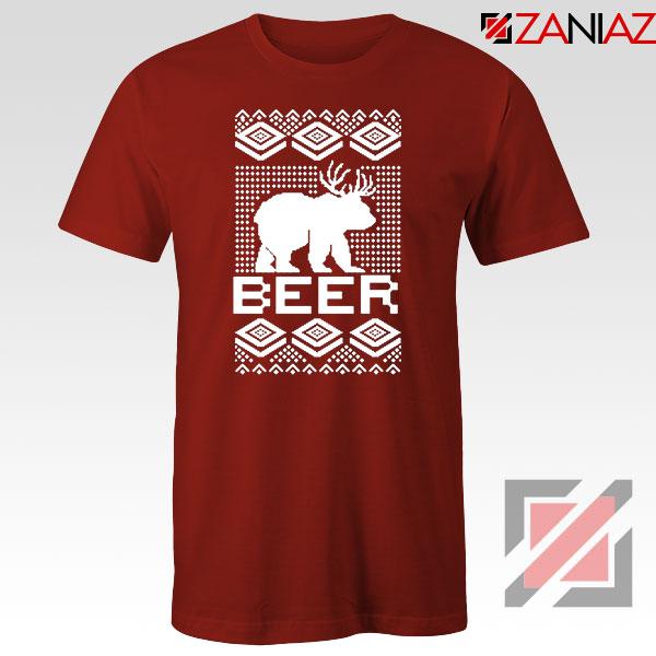 Bear Christmas Red Tshirt