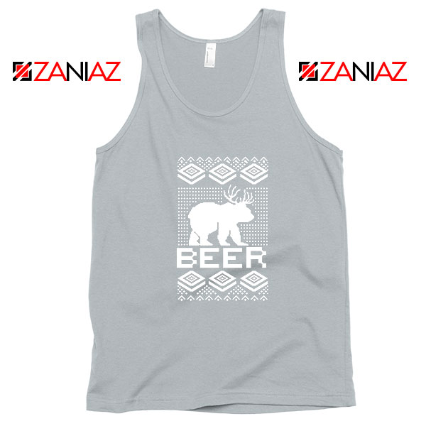Bear Christmas Sport Grey Tank Top