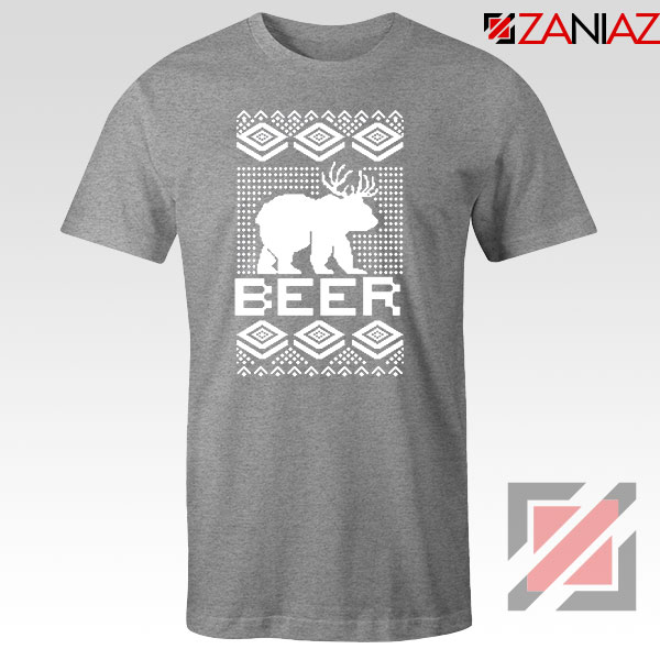 Bear Christmas Sport Grey Tshirt