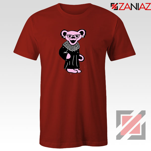 Bear Grateful Dead Red Tshirt