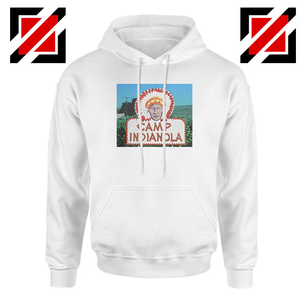 Camp Indianola White Hoodie