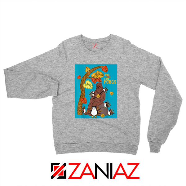Chewbacca Here For The Porgs Sport Grey Sweatshirt