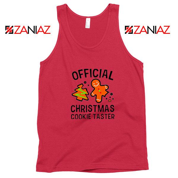 Christmas Cookie Taster Red Tank Top