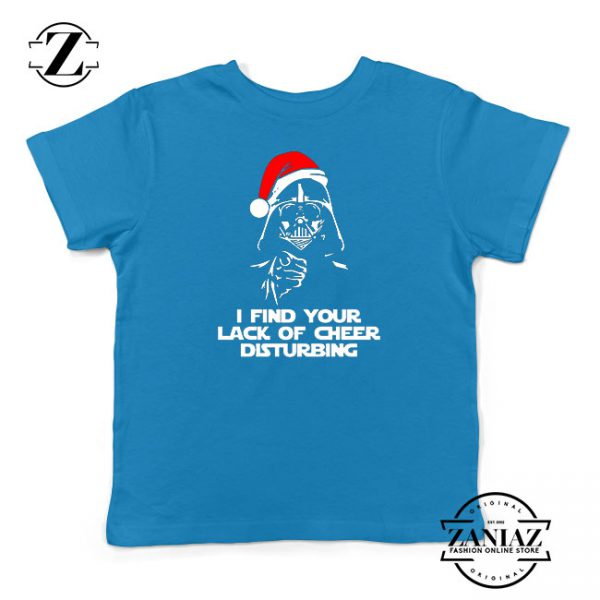 Darth Vader Christmas Blue Kids Tshirt