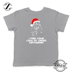 Darth Vader Christmas Sport Grey Kids Tshirt