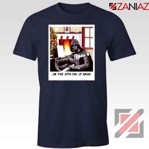 Darth Vader Sith Day of Xmas Navy Blue Tshirt