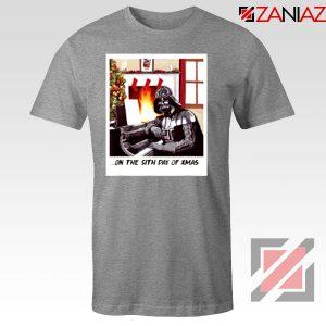 Darth Vader Sith Day of Xmas Sport Grey Tshirt