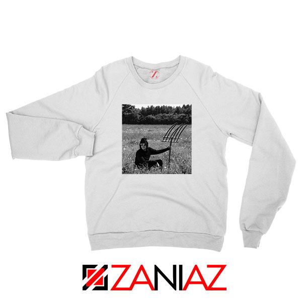 David Rose In A Field White Sweatshirt