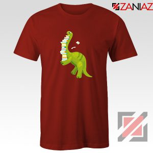 Dinosaur Reading Red Tshirt