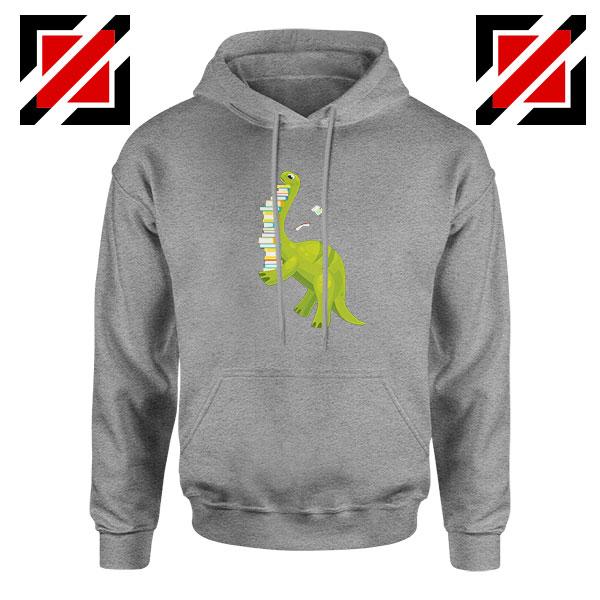 Dinosaur Reading Sport Grey Hoodie