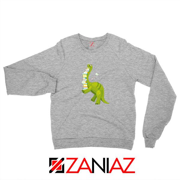 Dinosaur Reading Sport Grey Sweatshirt