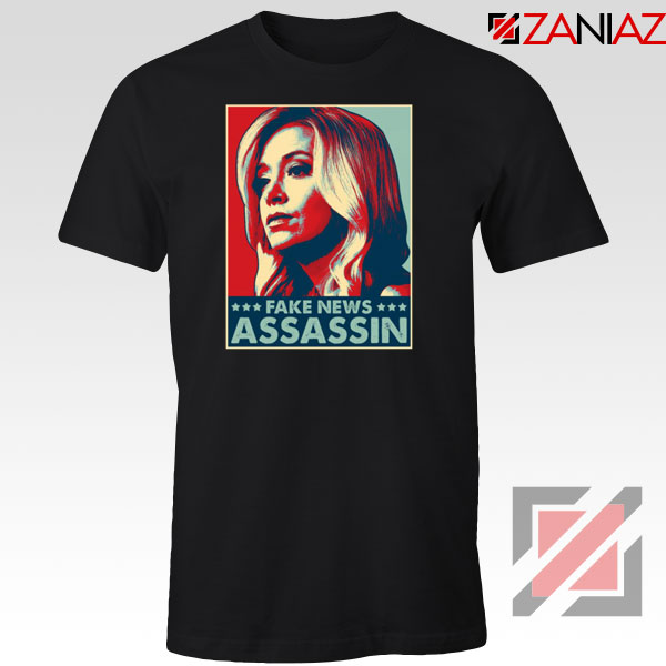 Fake News Assassin Black Tshirt