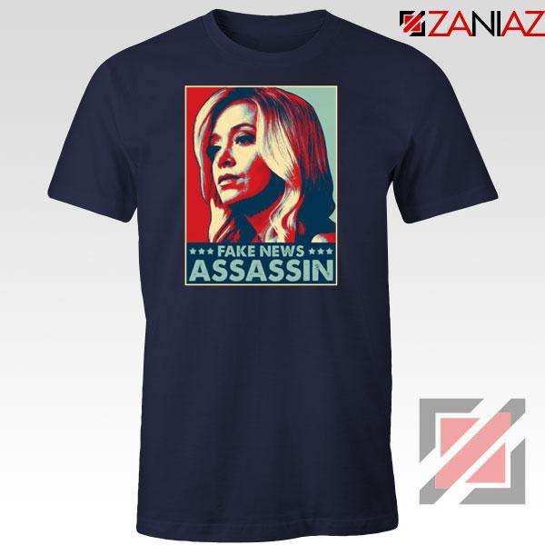 Fake News Assassin Navy Blue Tshirt