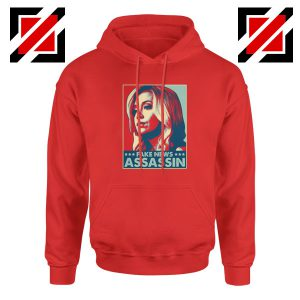 Fake News Assassin Red Hoodie