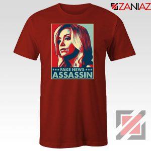 Fake News Assassin Red Tshirt