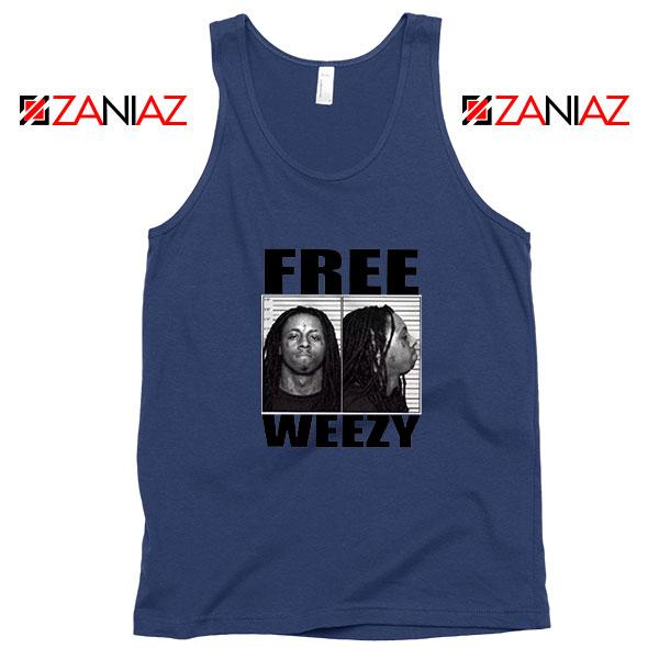 Free Weezy Navy Blue Tank Top