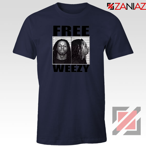 Free Weezy Navy Blue Tshirt