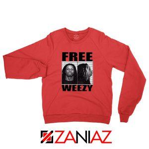 Free Weezy Red Sweatshirt