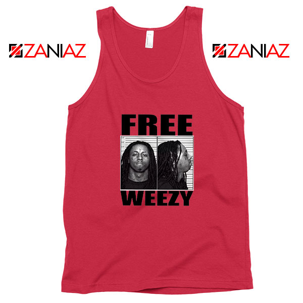 Free Weezy Red Tank Top