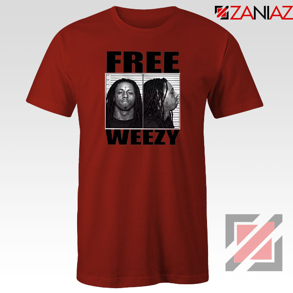 Free Weezy Red Tshirt
