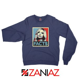 Kayleigh Facts Navy Blue Sweatshirt