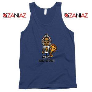 Kid Cudi Monkey Navy Blue Tank Top