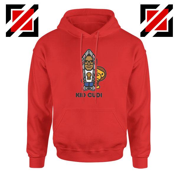 Kid Cudi Monkey Red Hoodie