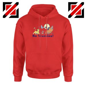 Lion King No Worries Red Hoodie