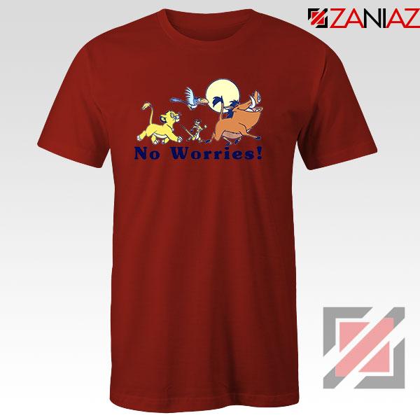 Lion King No Worries Red Tshirt