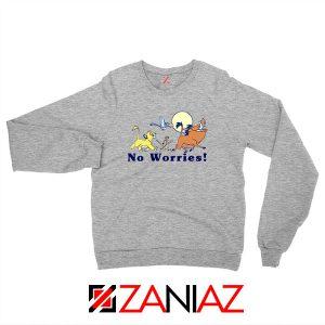 Lion King No Worries Sport Grey Sweatshirt