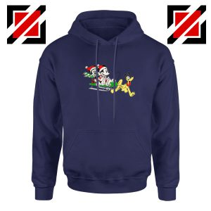 Mickey Minnie Pluto Navy Blue Hoodie