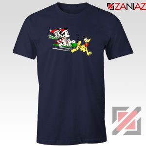 Mickey Minnie Pluto Navy Blue Tshirt