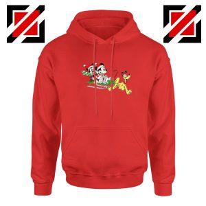Mickey Minnie Pluto Red Hoodie