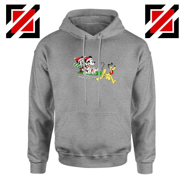 Mickey Minnie Pluto Sport Grey Hoodie