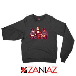 Mona Lisa Police Black Sweatshirt