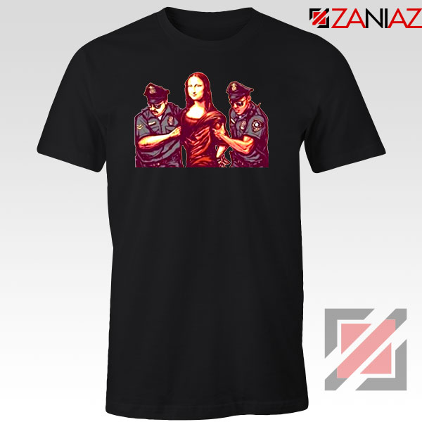 Mona Lisa Police Black Tshirt