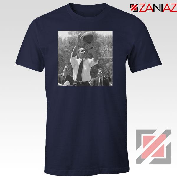 Obama Game Short Navy Blue Tshirt
