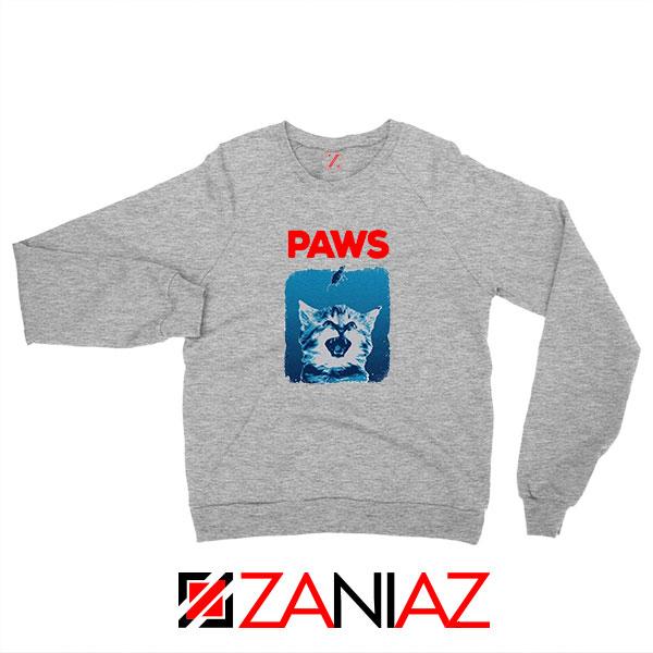 PAWS Cat Lovers Sport Grey Sweatshirt