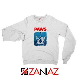 PAWS Cat Lovers White Sweatshirt